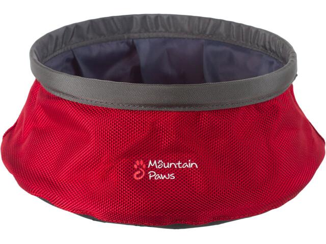 Mountain Paws vesikuppi Eläintarvikkeet L taitettava , harmaa/punainen